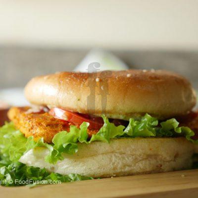 Chicken Tikka Bun kabab